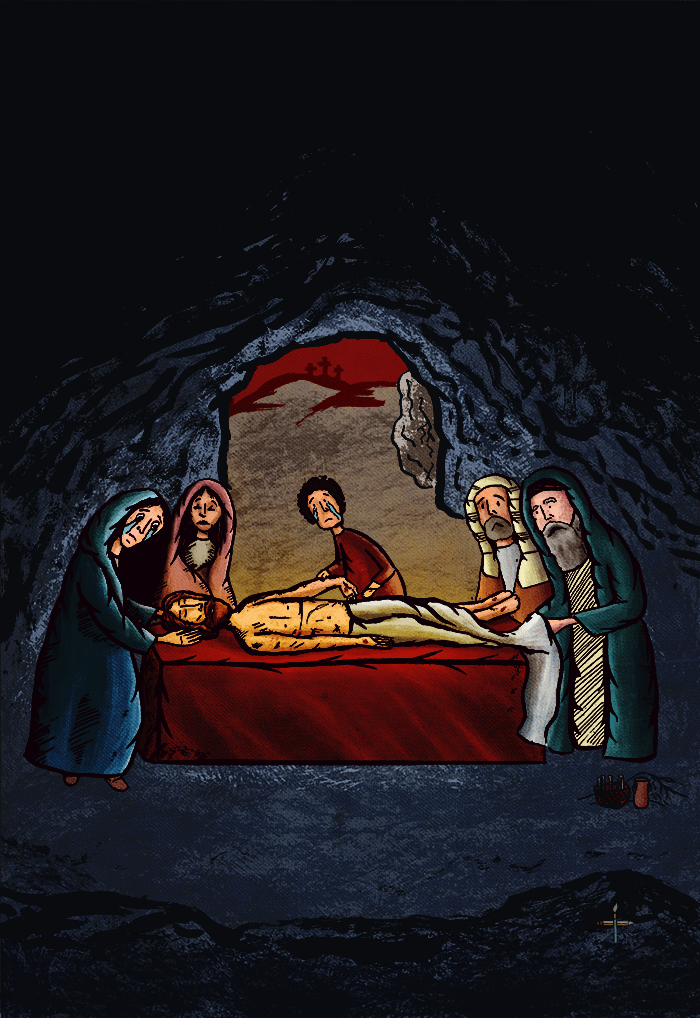 Orthodox Illustration of the burial of Christ