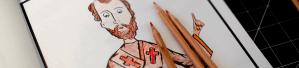 Saint John Chrysostom Sample Coloured Page