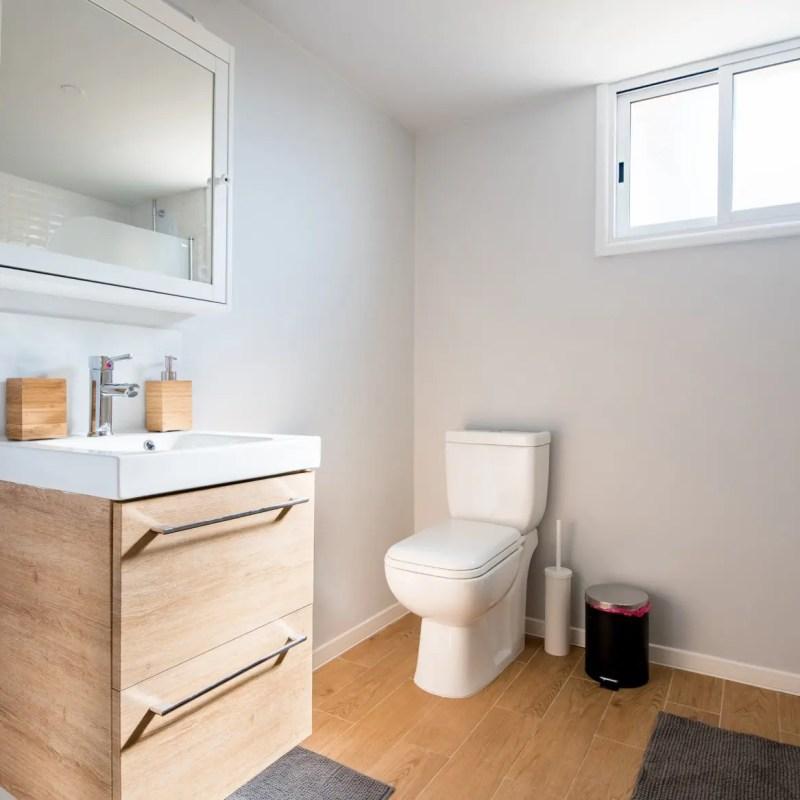 Clean bathroom for potty training