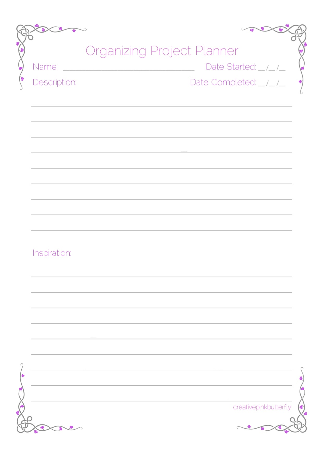 Printable Project Planner That Are Trust