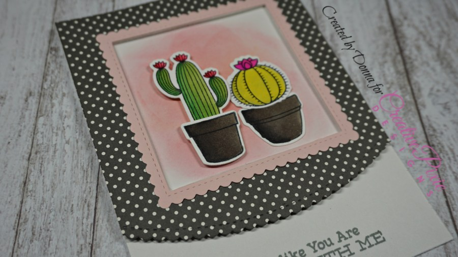 My Favorite Things Sweet Succulents handmade card colored using Spectrum Noir Markers.