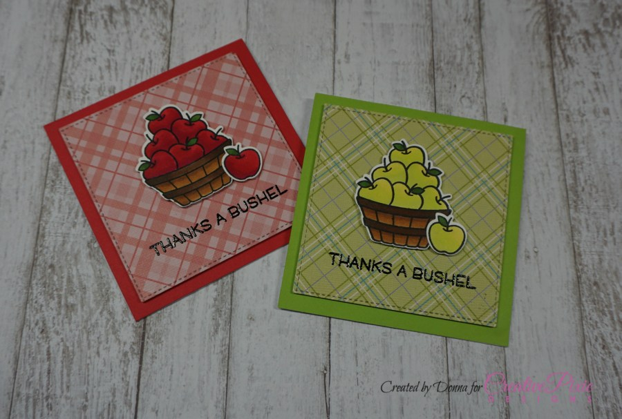 Lawn Fawn Thanks a bushel teacher appreciation week handmade card