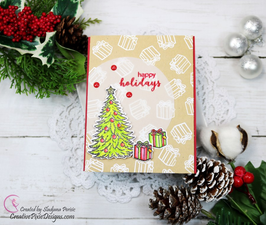 Hero Arts November 2019 My Monthly Hero Card Kit featuring 8 handmade Christmas cards from 1 kit, colored with Zig Clean Color Real Brush Markers.