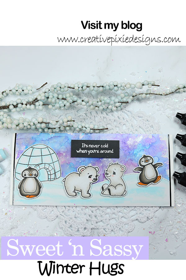 Polar Bear and Penguin stamped images