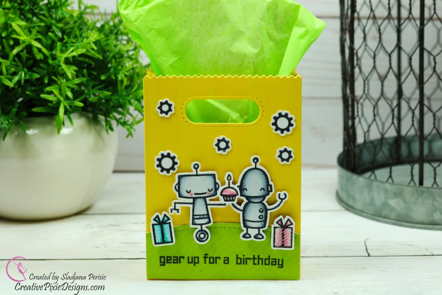 Lawn Fawn Beep Boop Birthday and Goodie Bag Die