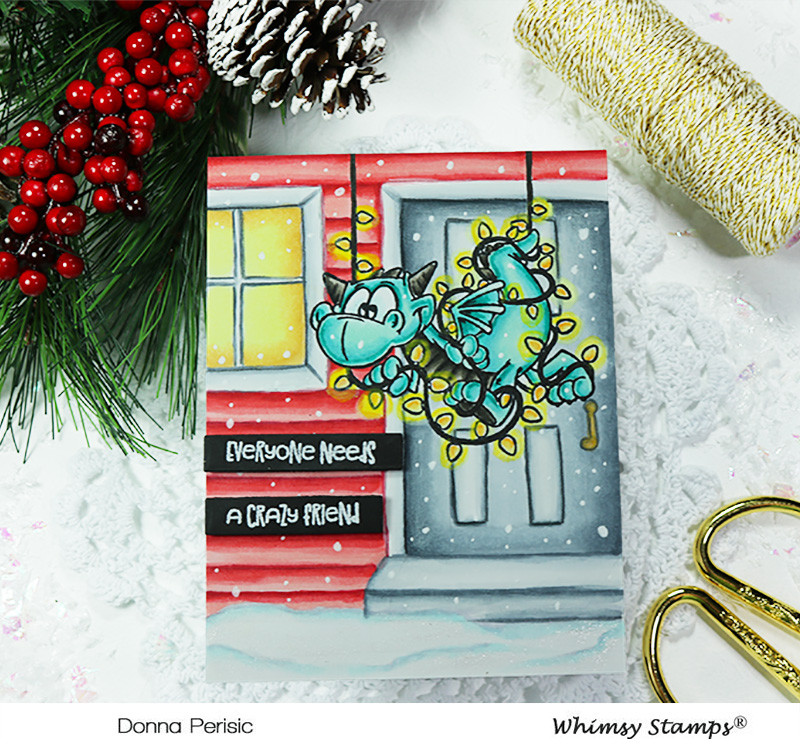 Whimsy Stamps Dragon Christmas Cheer