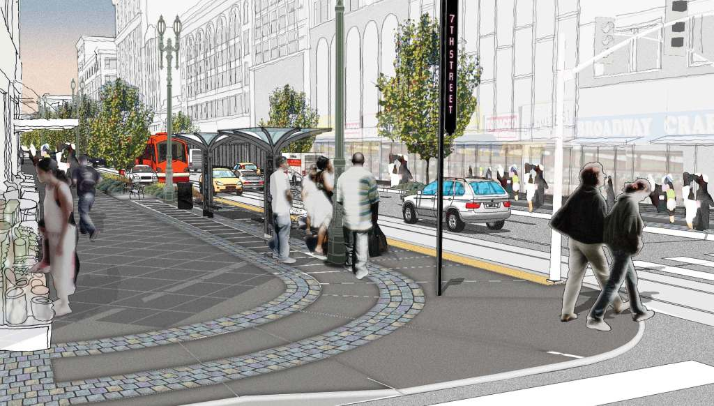 Broadway rendering from the Bringing Back Broadway civic group
