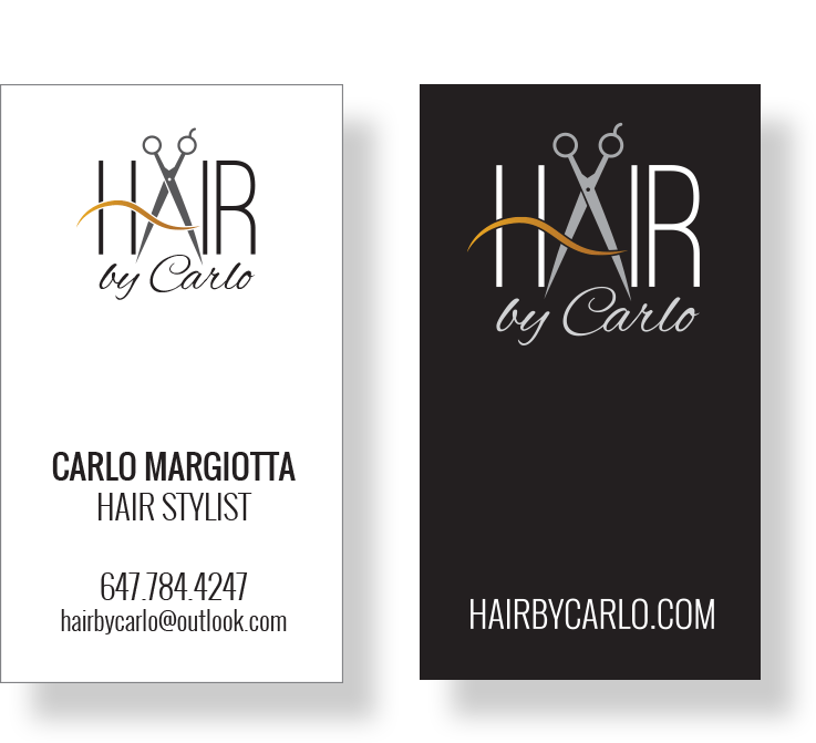 Hair by Carlo - Business Cards