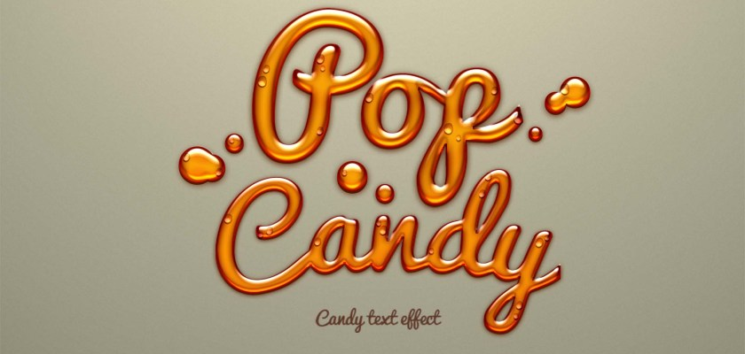 Free PSD Candy text effect Mockup