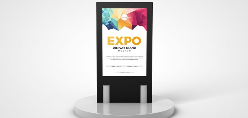 Free PSD Expo Screen Display Stand Mockup