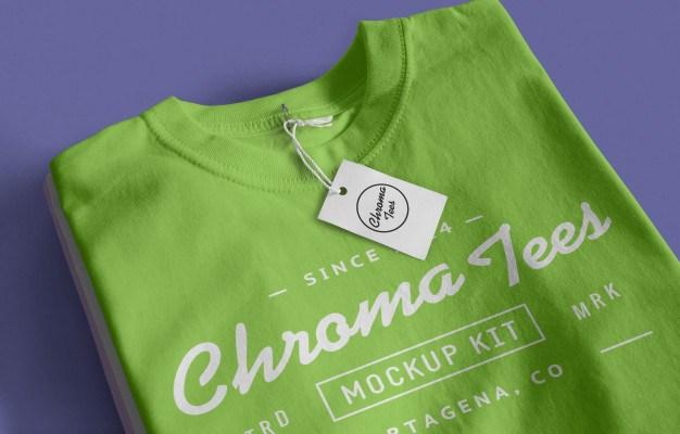Free PSD Fold Tshirt mockup
