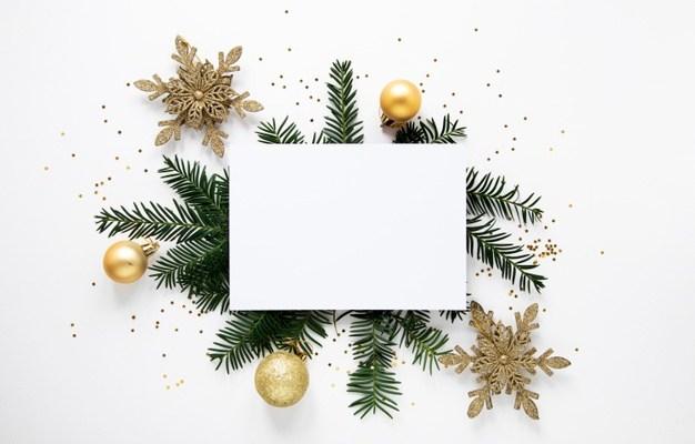Free PSD Christmas greeting card Mockup