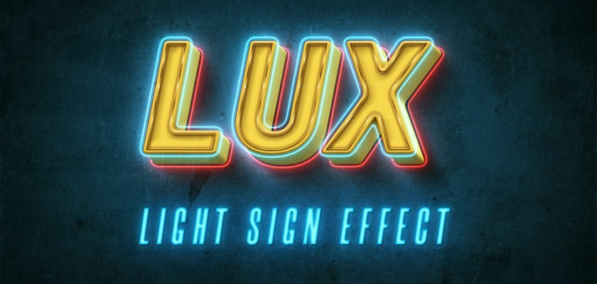 Free PSD Neon sign text Mockup