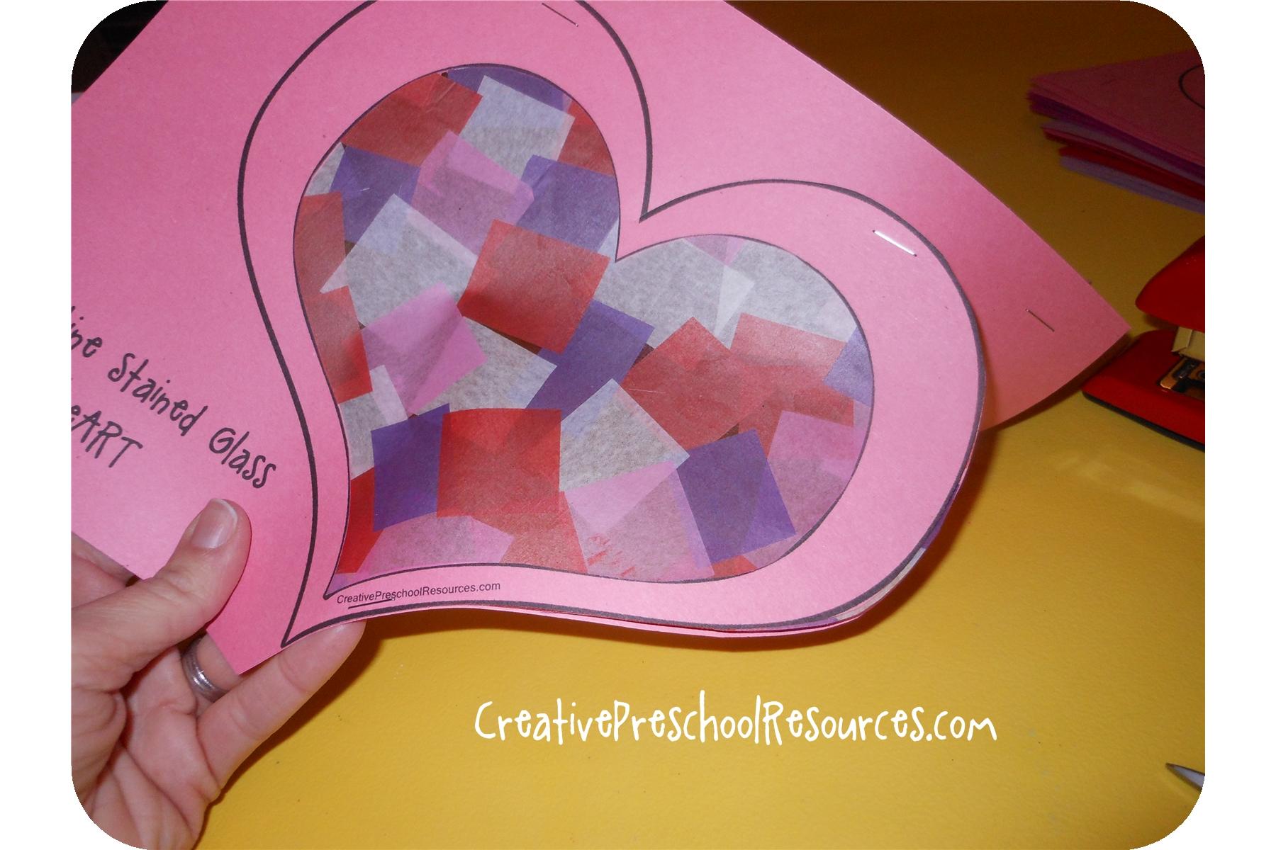 Creative Preschool Resources Valentine Stained Glass Heart