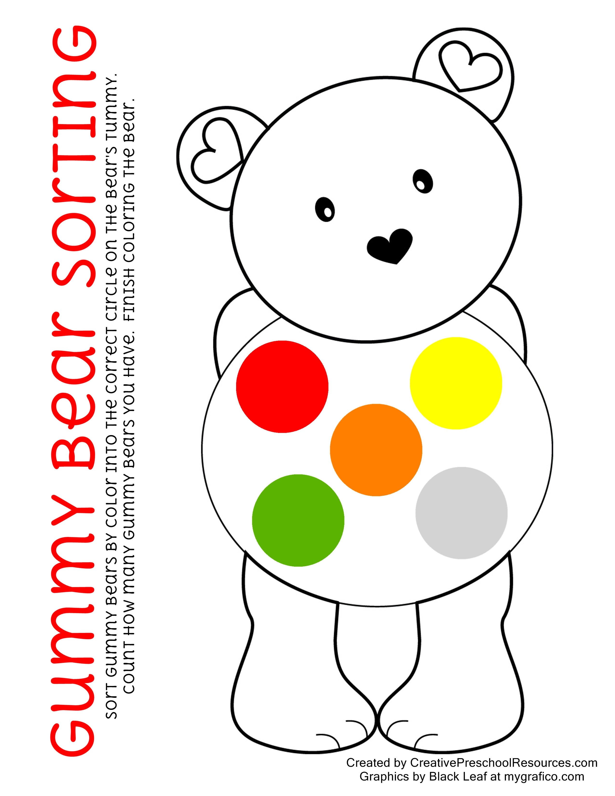 Gummy Bear Graphing Printables