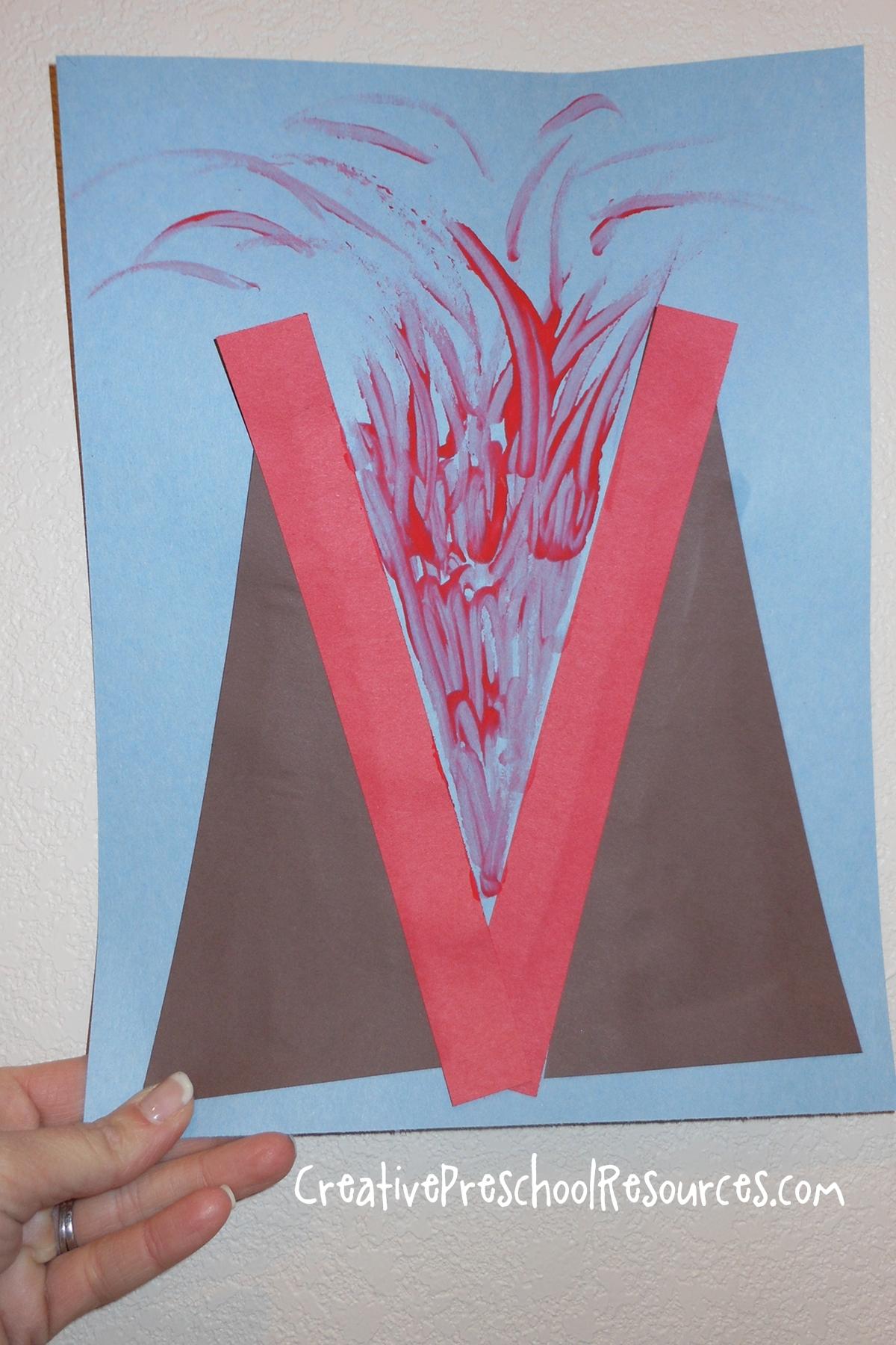Letter V Volcano
