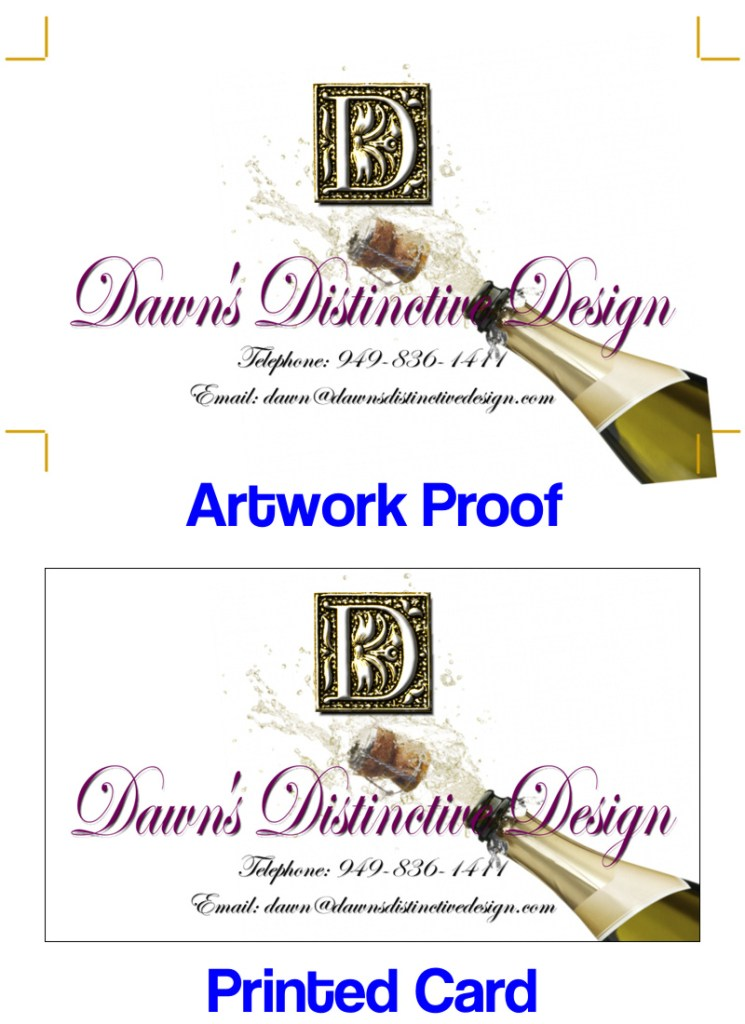 Business Card Design and Printing-Dawns Distinctive Design