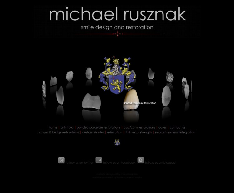 Website Design-Michael Rusznak-Home Page