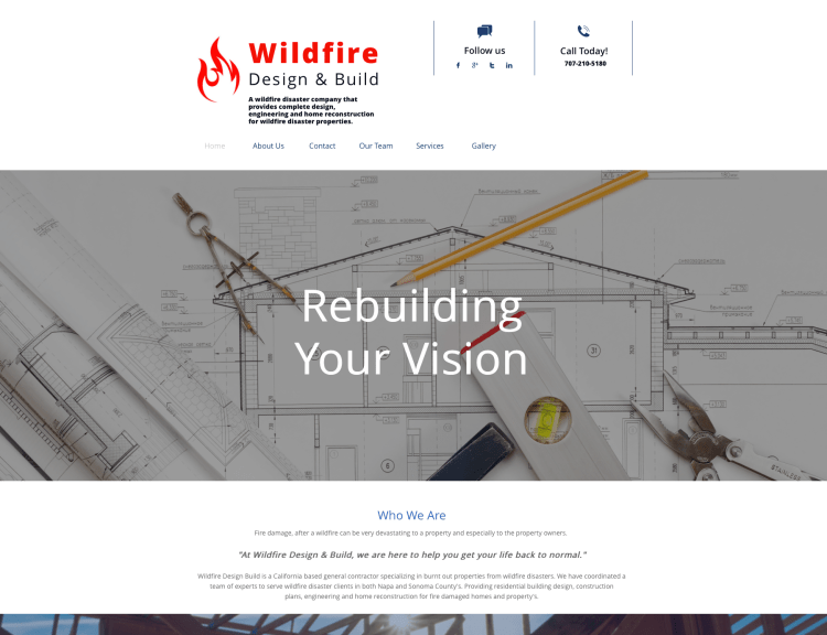 Website Design-Wildfire Design & Build-Home Page