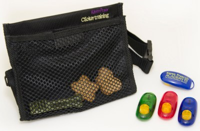 Fabric Bag & Plastic Dog Clickers
