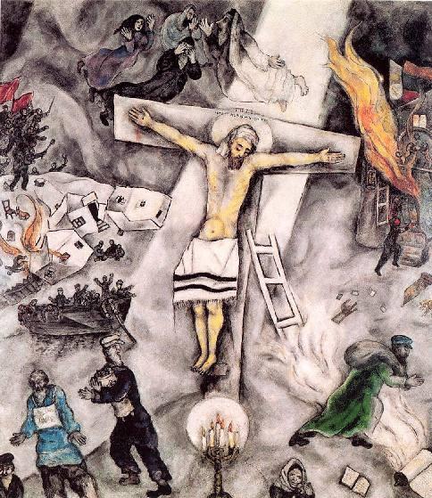 Marc Chagall, Crocifissione bianca, 1938, Chicago, Art Institute