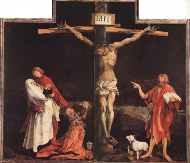 Matthias Grunewald, La Crocifissione, 1515, Colmar, Musée d'Unterlinden