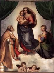 RAFFAELLO, madonna sistina, 1513-14