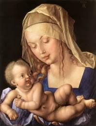 Durer, Madonna della pera, 1512, Norimberga, Germanisches Nationalmuseum