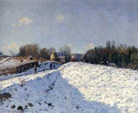sisley, effetto neve all'argenteuil, 1874, coll. priv.