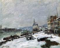 sisley, inverno a Marly-le-Roi, effetto neve, 1876, coll.priv.