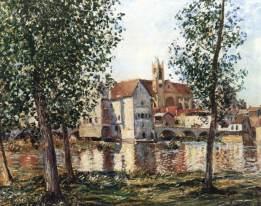sisley, Moret-sur-Loing in una mattina di sole, 1888, coll. priv.