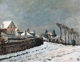 sisley, neve a Louveciennes, 1873, coll. priv.
