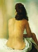 gala nuda di spalle, 1960, fondazione gala-salvador dalì