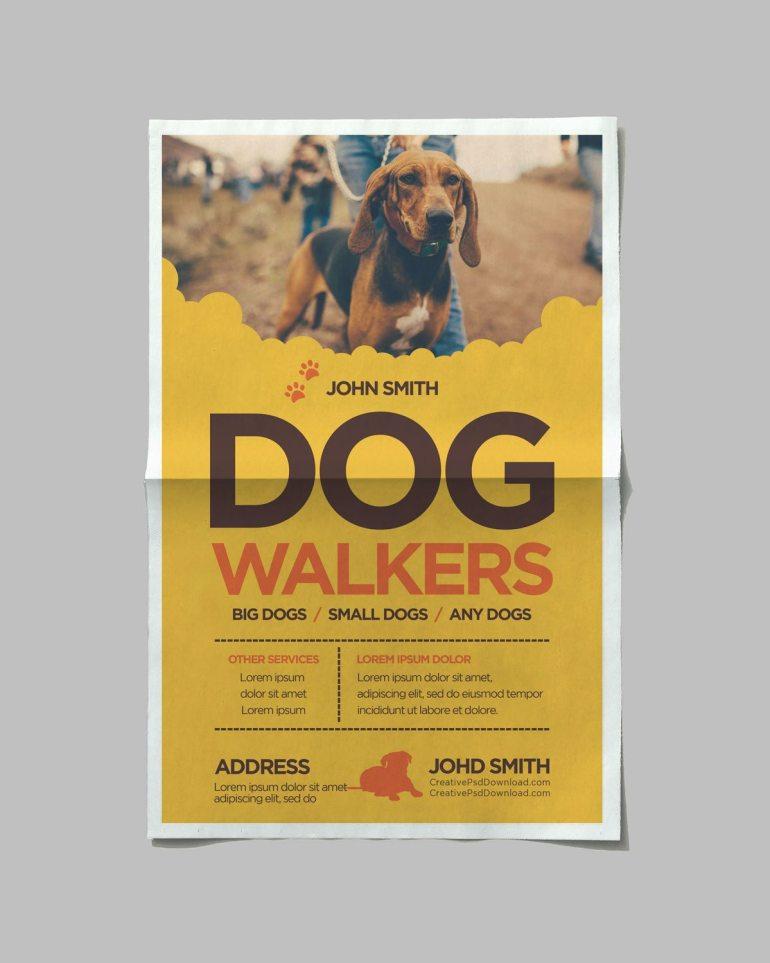 Creative Dog Walkers Flyer Showcase 4