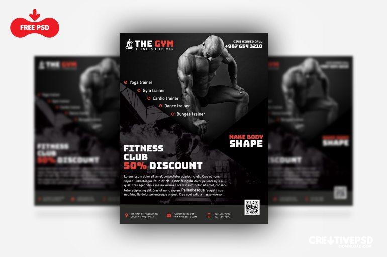 The Gym Fitness Flyer Freebie PSD