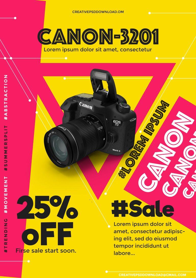 Product Sale PSD Flyer Mockup Freebie