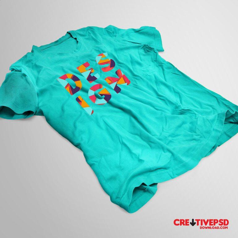 Free T-Shirt PSD Mockup Design