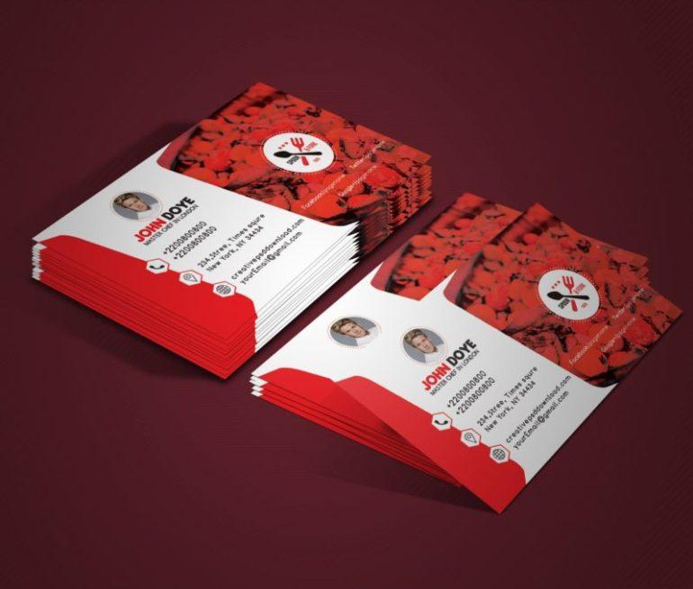 Chef Business Card Free PSD Mockup