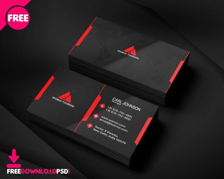 Travel Agent Business Card PSD Template