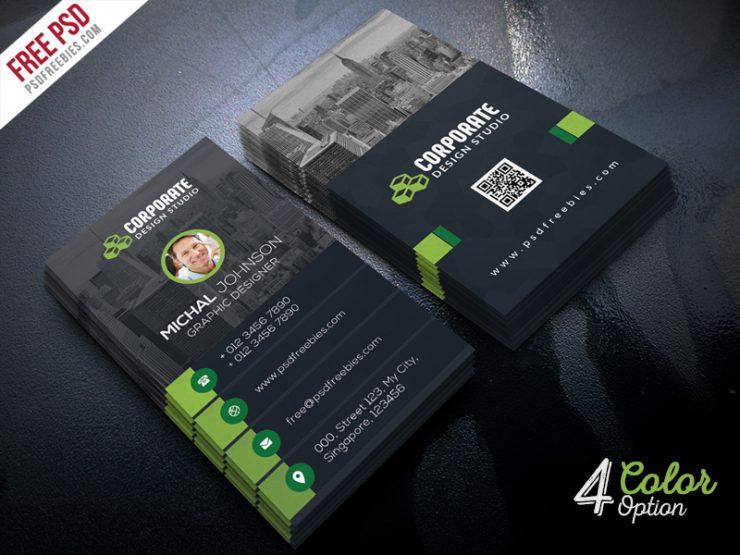 Corporate Business Card Template PSD Bundle