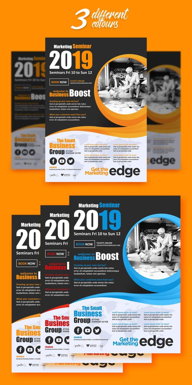 Premium Corporate Marketing Flyer PSD Freebie