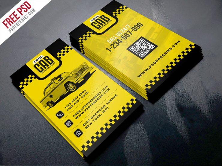 Taxi Cab Service Business Card Template PSD