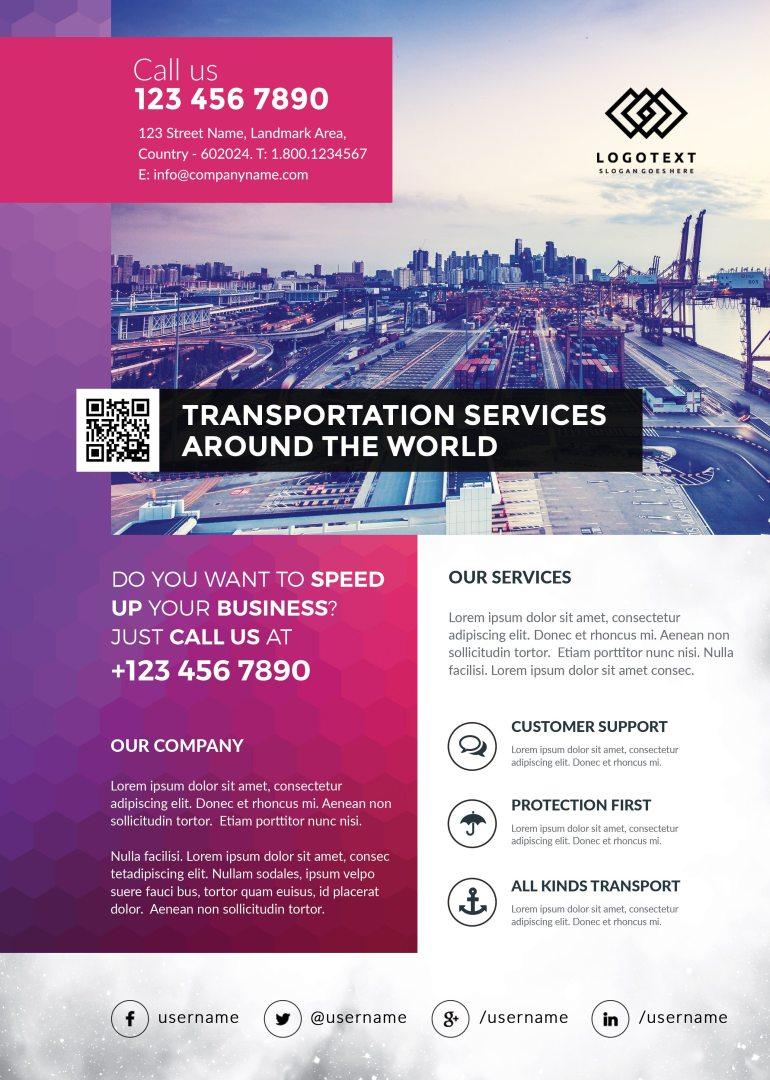 Transportation Flyer Free PSD