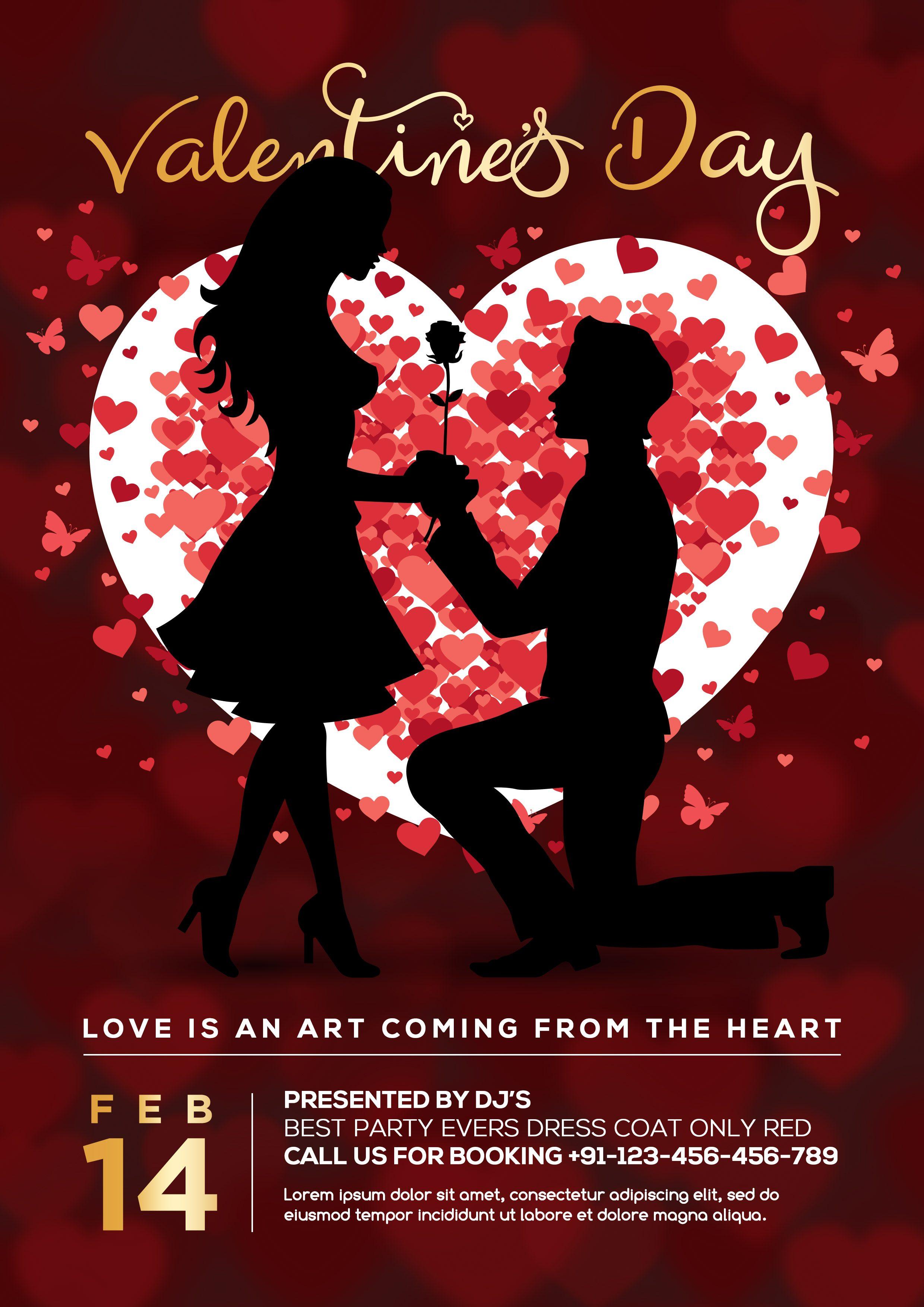 Valentines Party Flyer PSD Freebie CreativePsdDownload
