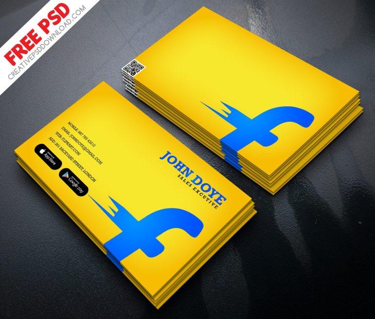 Flipkart Business Card Free PSD
