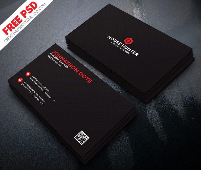 Premium Corporate Business Card Free PSD