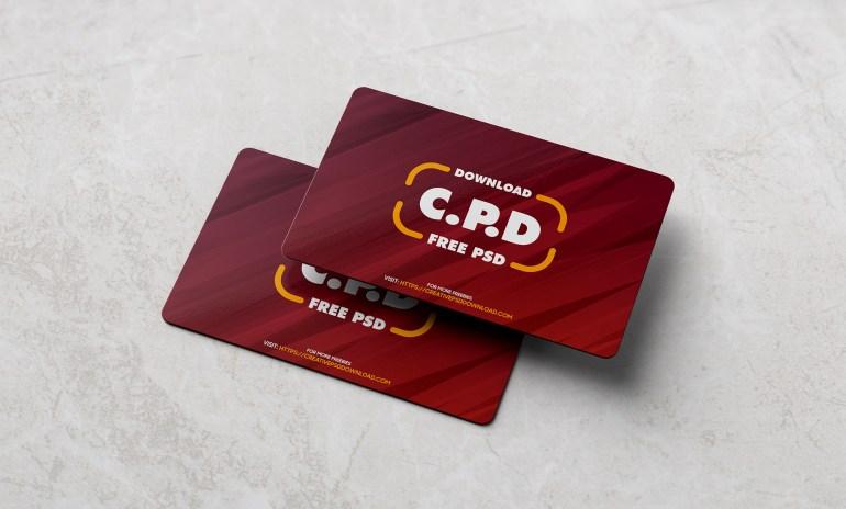 Business Card Mockup Free PSD [Premium Mockup]