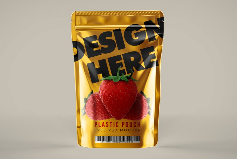 Plastic Pouch Free Psd Mockup