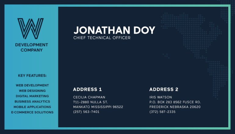 Web Development Company Business Card PSD