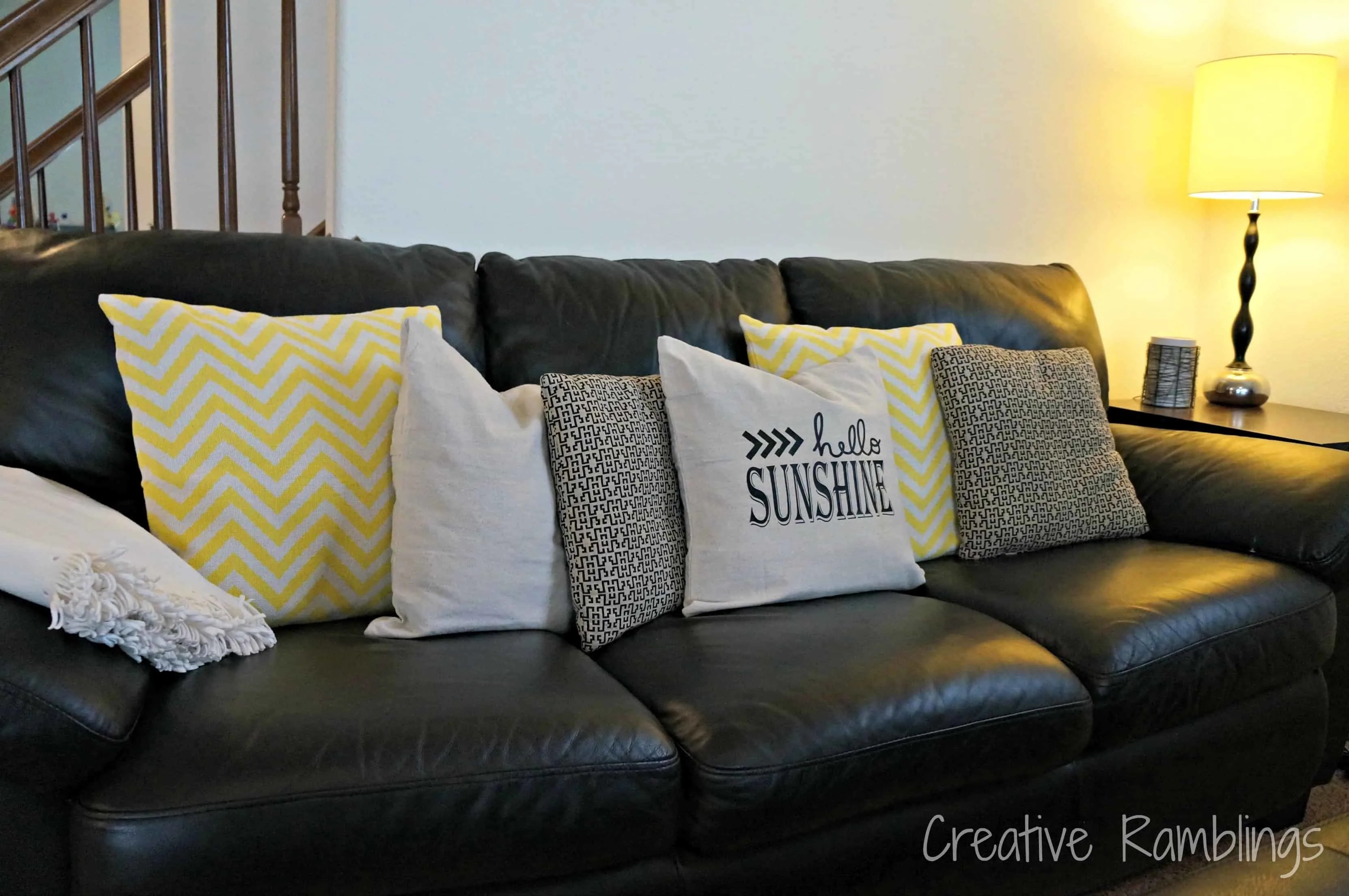 Easy Updated Throw Pillows